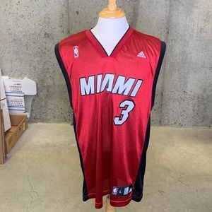 Vintage Miami Heat Dwayne Wade #3 Adidas Jersey